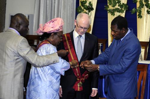 9- Le Président Herman VAN ROMPUY élevé au Rang de Grand Croix de l'Ordre national du Bénin