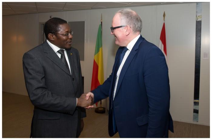 Le Ministre Bako-Arifari accueilli par son homologue néerlandais, S.E.M Frans Timmermans