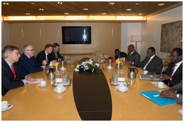 Séance de travail au Ministère néerlandais des Affaires étrangères