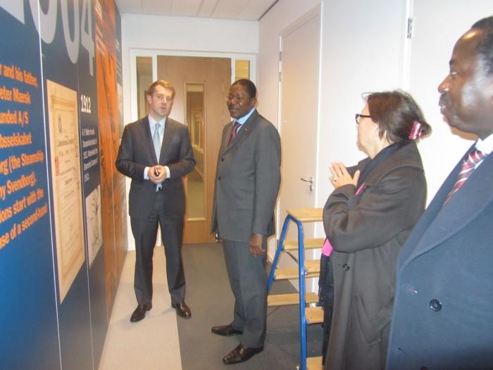 Visite du Ministre au siège du Groupe APM Terminals à La Haye
