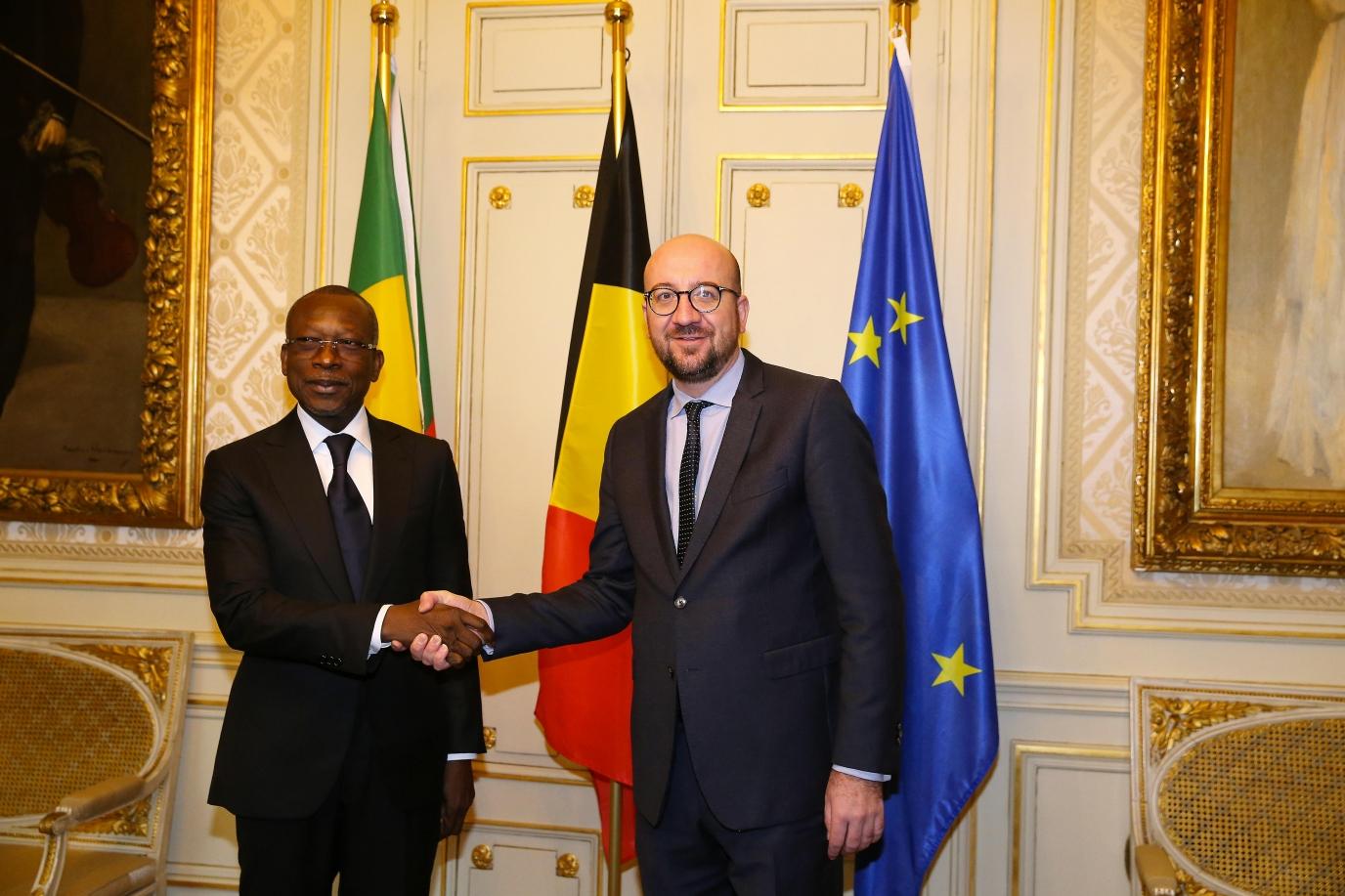 Rencontre entre le Chef de l'Etat et le Premier ministre belge, M. Charles Michel